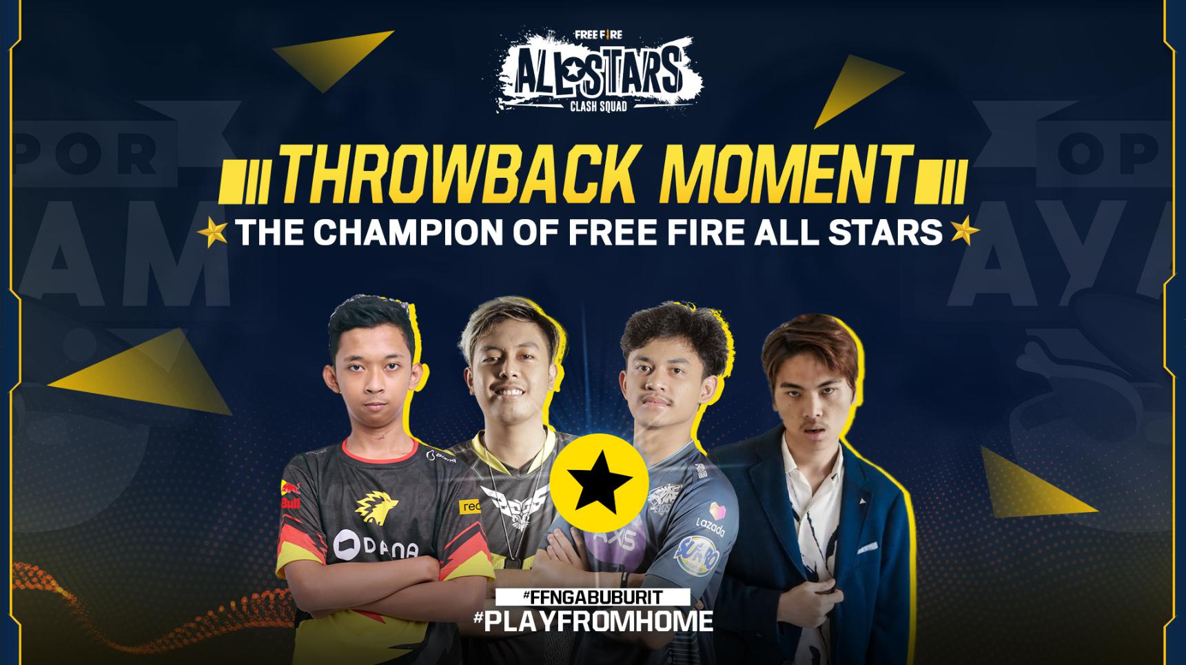 Throwback Moment Champion Free Fire All Stars